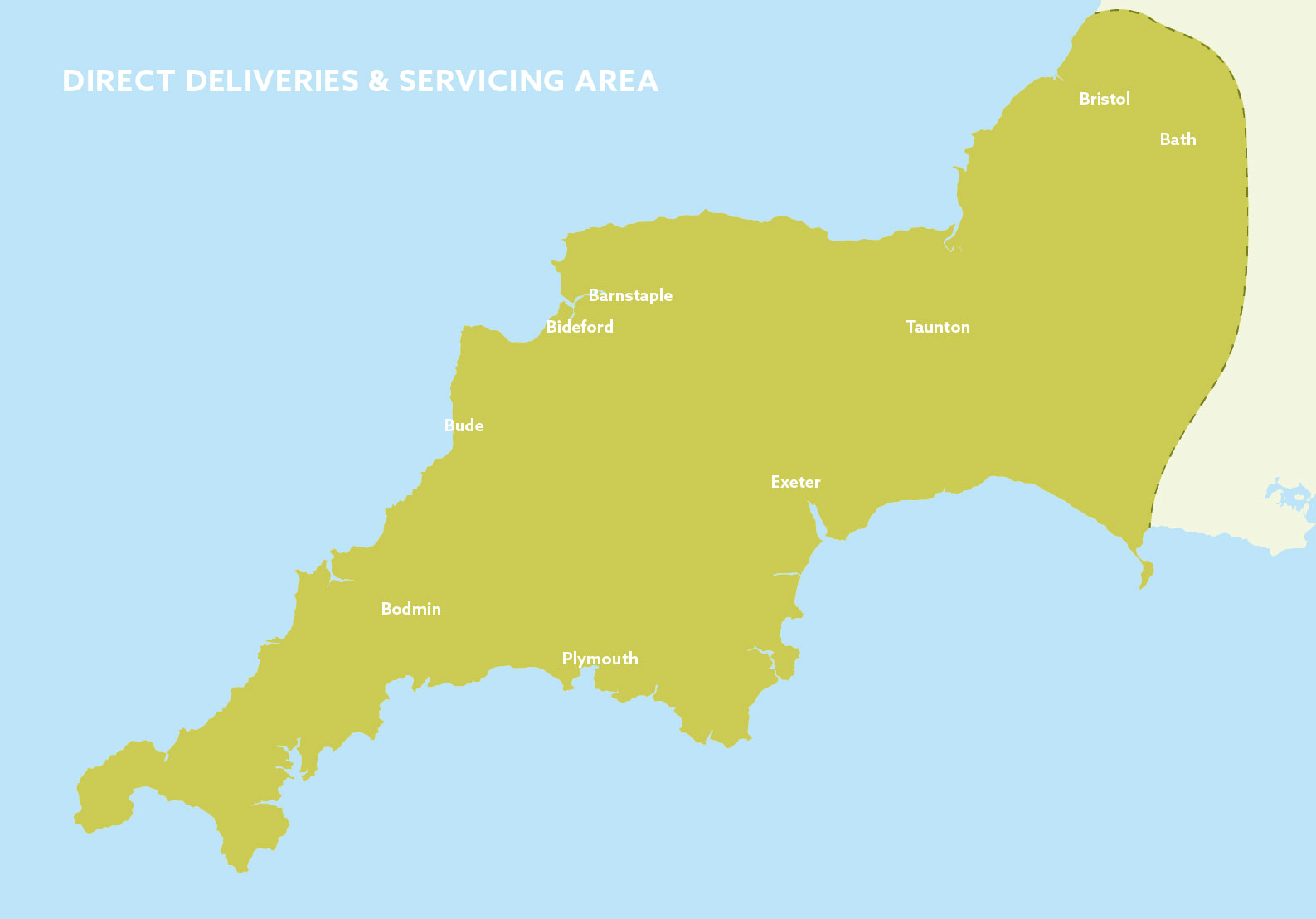 coffee servicing delivery area south west